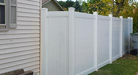 Vinyl and PVC fence